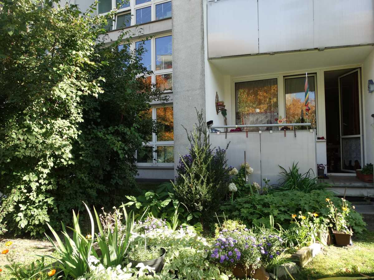 Balkon z ogródkiem